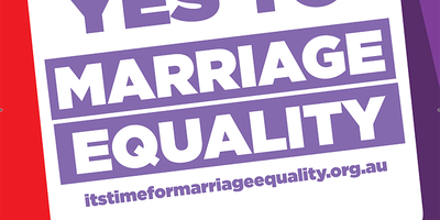 """I Say Yes to Marriage Equality"" coreflute poster"
